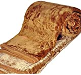 SRS Floral Embossed Brown Double Bed Bla...