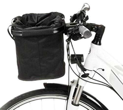 Fitnessmarke Lenker Fahrradkorb Easy Shopper Lenkertasche Alu-Rahmen Klicksystem faltbar Tasche Bike Rad Basket Schwarz ~yx 125 -