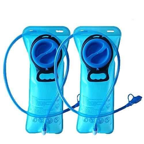CSDSTORE 2 Paquetes Vejiga de hidratación de 2 litros - Depósito de Agua de Repuesto Resistente - Tapón a Prueba de Fugas - Lo Mejor para Practicar Senderismo, Acampar, Ciclismo, Caza