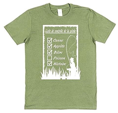 liste de contrôle de la pêche T-shirt drôle cadeau pour
