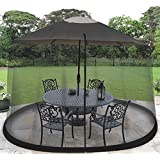 Ideaworks-Outdoors JB5677 Outdoor 7.5-Foot Umbrella Table Screen, Black