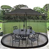 Ideaworks JB5677 Outdoor 7.5-Foot Umbrella Table Screen, Black - Best Reviews Guide