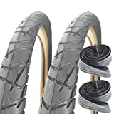 Raleigh CST T1302 26' x 1.90 Streetwise Slick Mountain Bike Tyres with Schrader Tubes (Pair)