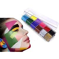 PINTURA corporal de 12colores de pintura Pigment cuerpo teatro/payaso/Maquillaje Décor Halloween/color Facial pintura de aceite maquillaje Body Painting Deguisement