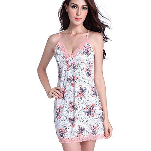Damen Sexy Spitze Lingerie Babydolls Chemises Kurzes Kleid Muster B ...