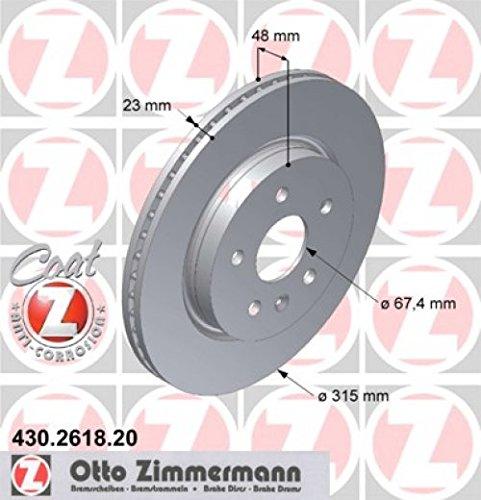 Zimmermann 430.2618.20 Disco Freno, Posteriore, Coat Z