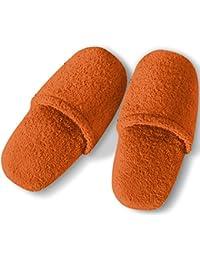 Burrito Blanco Zapatillas de Baño/Zapatillas de Toalla/Zapatillas de Ducha para Hombre Lisas de RIZO Algodón 100% Talla 46, Color Fucsia