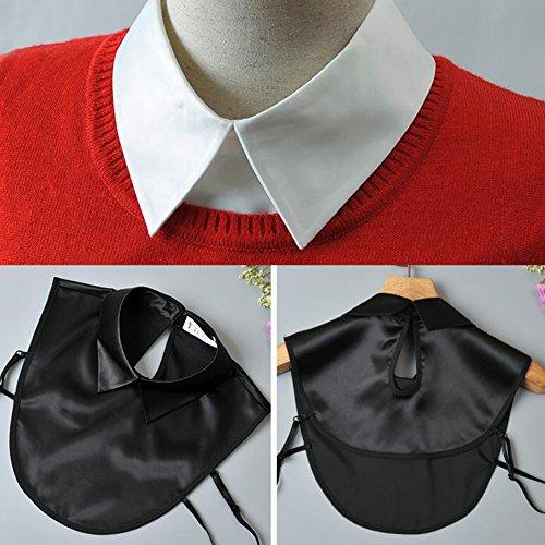 Collier à col en faux à la mode Collier détachable pour collier faux noir A