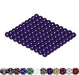 Viele Varianten: 100 Magnetkugeln 5mm für Whiteboard, Magnettafel, Kühlschrank (Lila)