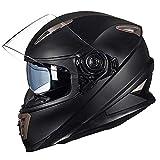 Cascos Moto Full Face - Certificado por ECER 22-05 Casco De Motocicleta De Doble Sombra Casco De...