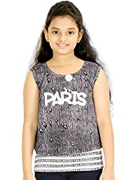 Bluntly Embellished Cotton Layered Top For Girls