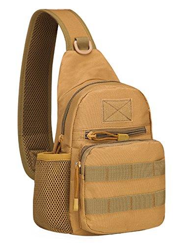 Menschwear Schleuder Tasche Chest Pack,Multiple Storage Zweck Umhängetasche Tragen Styles Grün Khaki