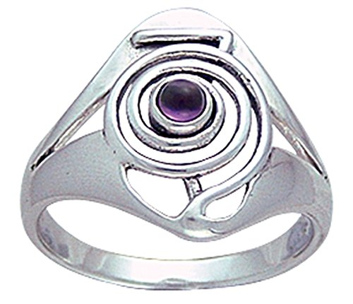 Alterras - Ring: Cho Ku Rei Ring aus 925-Silber m. Edelstein(en) (Ring-Größe: Ringr. 62 (ø19,7mm; US:#10)) Größe 10 Ring-amethyst