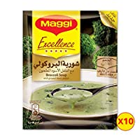 Maggi Excellence Broccoli Soup Sachet, 48g  Pack of 10