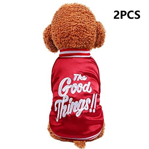 Kostüm Hunde Samojeden - FZXPET Haustier Kleidung, Niedliche Kleine Hundemantel, Kalten Winter Hund Jacke Weste, Warme Outfit Kleidung Für Kleine, Mittlere, Große Hunde (2PCS),M