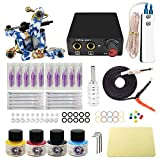 tattoo set mit 1 Tätowiermaschine 2 tattoo netzteil 20 Tätowierungsnadel 4 tattoo-tinte EU plug tattoo kit (TK1000016)