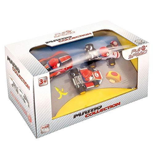 Pull & Speed- Kart Mario 3 Pack (Wii, MK8, Mach 8), (Stadlbauer 15813016)