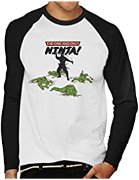 Cloud City 7 The Real Ninja Teenage Mutant Ninja Turtles Men's Baseball Long Sleeved T-Shirt