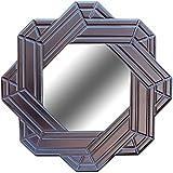 A.R Handicraft Decorative Mirror (Star Finish : Glossy) Width 23 Inch Height 23 Inch Depth 1 Inch