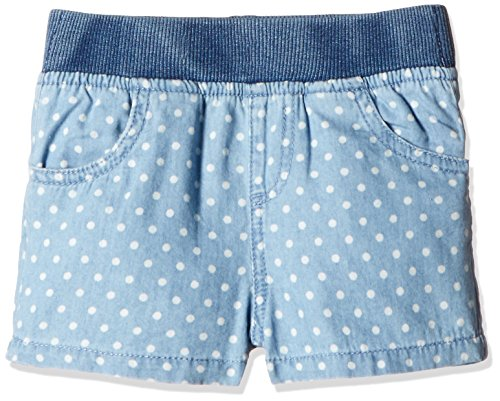 Fox Baby Girls' Shorts  (Jeans and Blue_6-12 months_319570)