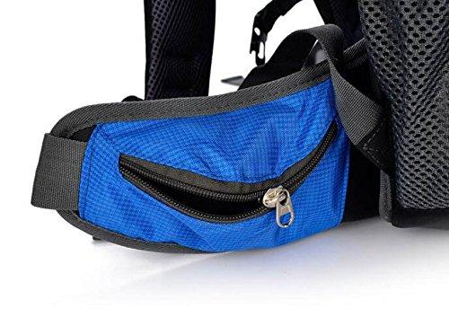 Yueer Outdoor Zaino Escursionistico Viaggio Grande Capacità Sport Fitness Impermeabile Nylon Borsa Durevole Alpinismo 50L,C E