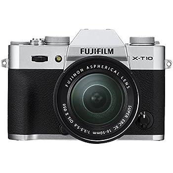 Fujifilm X-T10 Systemkamera inkl. Fujinon XC 16-50 mm Objektiv (16,3 Megapixel CMOS II Sensor) silber