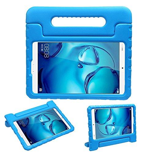 .4 Hülle, BELLESTYLE Stoßfest Cabrio Griff Stand Schutz EVA Schaum Fall Abdeckung für Kinder für Huawei Android Tablet-Blau (Film Kostüm Design Schule)