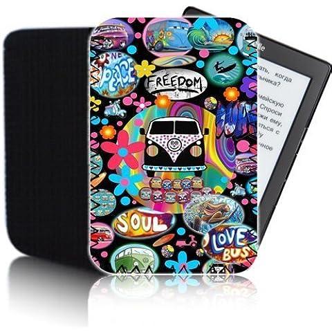 'Retro furgoneta' negro PPW–Funda para Amazon Kindle 4y 5(2012, 2013, 2014) Tablet–golpes y resistente al agua bolsa de neopreno para Protector–rápido de