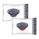 2PC NBA New Orleans Pelikane Kissenbezüge Set Basketball Team Bettwäsche Logo Kissen Bezüge
