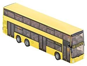 Siku 1884 MAN - Autobús de línea de dos pisos miniatura (escala 1:87), colores surtidos