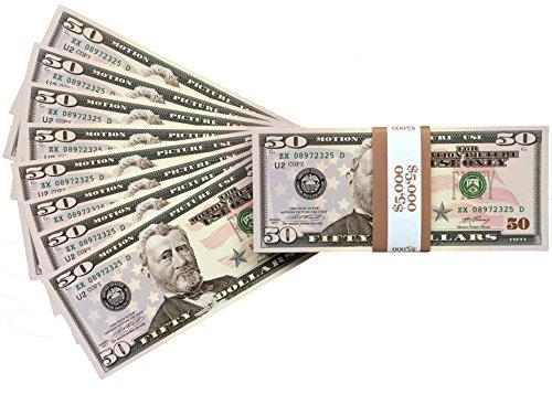 eade2058f8d PROP MONEY DOLLARS - 100 Full Print New Style Copy $50 Dollar Bills ...