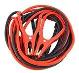 4CARS Hochleistungs Kupfer Starthilfekabel, Starterkabel, vollisolierte Klammer; für Benzin- oder Diesel-PKW und LKW, 4,5 m lang, ausgelegt für bis zu 600 A (Inklusive Reißverschlusstasche mit Griff)