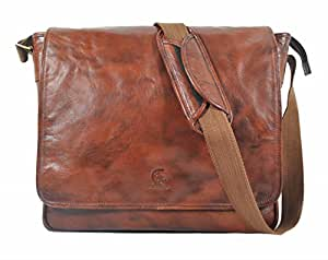 Delphi Leather Women's Tavros Leather Messenger Bag MB-02