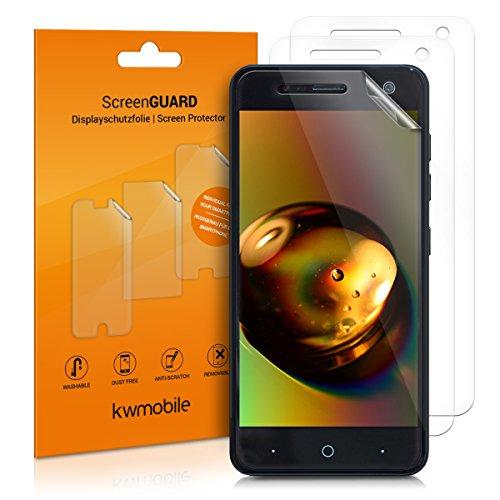 kwmobile 3X Folie für ZTE Blade V8 Mini - klare Bildschirmschutzfolie Bildschirmschutz Crystal Clear kristallklar Bildschirmfolie Schutzfolie