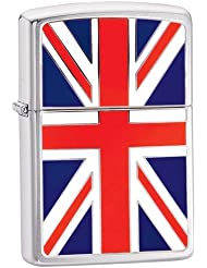 Zippo Union Jack Emblem - Kits de superviviencia, color plateado