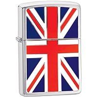 Zippo Union Jack Emblem Windproof Lighter - Brushed Chrome