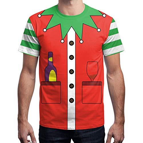 Mymyguoe Unisex Kurz Tops Männer Frauen Weihnachten Xmas Santa Print Kurzarm Poloshirts Slim Fit Running-Shirts für Herren Hemden Fun-T-Shirts Freizeitshirt Sportswear Outdoor T-Shirt Hemden T-Stück
