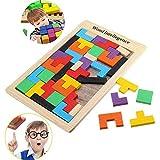 Delidraw Kinder Holz Puzzle Spielzeug Bunt Tangram Gehirn Puzzle Platte Kinder Baby Geistigen Bildungs Tetris Freizeit Spielsachen