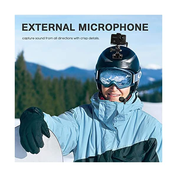 Crosstour 4K 20MP Action Camera Webcam WiFi EIS Waterproof 40M with External Microphone and Remote Control 3