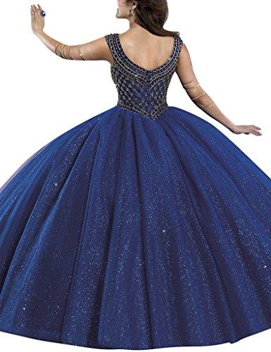 HUINI Damen Modern Kleid Königsblau
