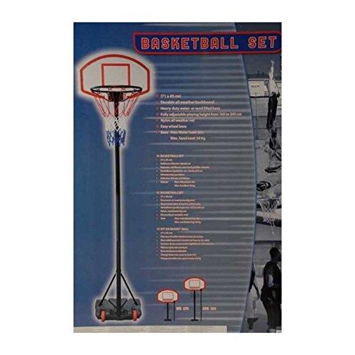 Grand Panier Kit De Basket Ball Mobile Sur Pied 165 215cm