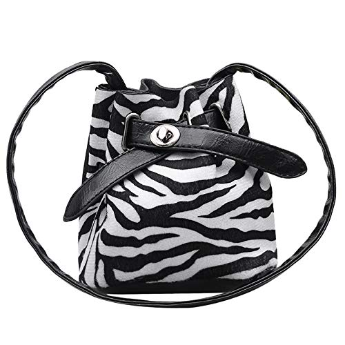 holitie Children Messenger Bag Plush Leopard Print Shoulder Bag Shopper Tote Henkeltasche Messenger Crossbody Bag Bucket Bag