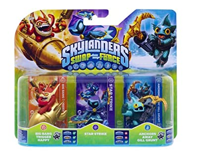 Skylanders Swap Force - Triple Character Pack - Star Strike, Gill Grunt, Trigger Happy (Xbox 360/PS3/Nintendo Wii U/Wii/3DS) by Activision