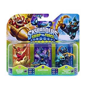 Skylanders Swap Force – Triple Pack C (Star Strike, Gill Grunt, Trigger Happy)