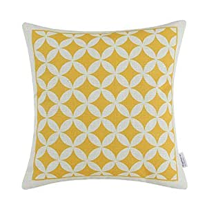 Calitime cuscino geometrica figura 45cm x 45cm giallo
