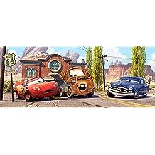 Niños Póster gigante Cars 250x 100cm habitación de los Niños Papel pintado pared decoración pared Tatoo–cuadro de cenefa Kids Wallpaper Children Wall Mural Border
