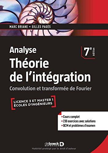 Analyse - Thorie de l'intgration : Convolution et transforme de Fourier