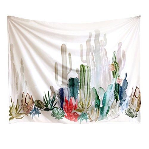 VORCOOL Pared Colgantes Paisaje Cactus Tapiz de Pared Decorativo Pared Techo para salón Dormitorio decoración 130x 150cm