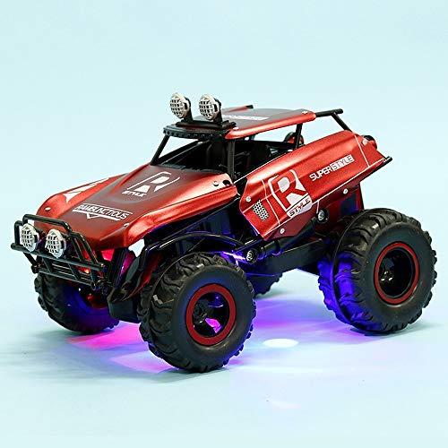 Pkjskh Rennwagen Riesenrad Stunt Elektro-Spielzeug-Auto Folding Fernbedienung Buggy mit Licht-Musik-Spielzeug-Auto Allradantrieb Leistungsstarke Power-Climbing Car Boy Toy (Color : Rot)