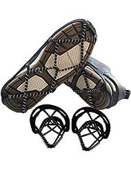 Shaddock pesca® Portátil antideslizante alfombrilla antideslizante agarre de hielo nieve tracción tacos fácil paseo en la nieve y el hielo, diseño ligero